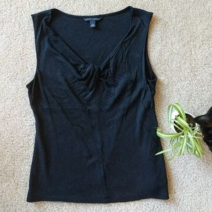 Banana Republic Black Tank Top with Front Detail